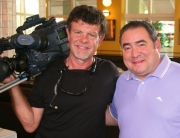 Bill with Emeril Lagasse during the production of EMERIL'S FLORIDA - Season 1